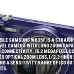 Samsung WB35F- smart camera with video mode capability